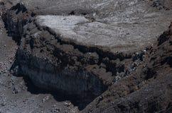 Стена утесов в вулкане Poas стоковое фото rf
