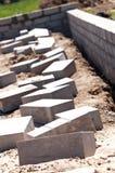 стена учредительства цемента кирпичей стоковое изображение rf