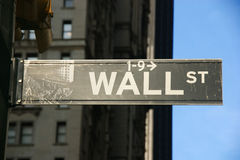 стена улицы знака Стоковые Изображения