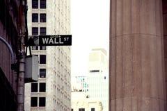стена улицы знака Стоковые Фото
