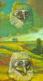 стена улицы надписи на стенах искусства цветастая покрытая Стоковая Фотография RF