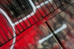 стена улицы надписи на стенах искусства цветастая покрытая Стоковые Фотографии RF