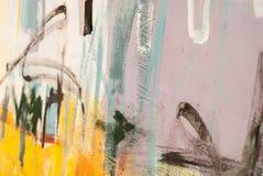 стена улицы надписи на стенах искусства цветастая покрытая Стоковое Изображение