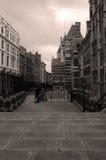 стена улиц девушки города кирпича Стоковое Изображение RF