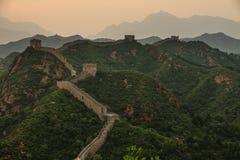 стена фарфора большая jinshanling Стоковые Фотографии RF