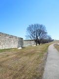Стена форта, Квебек (город), Канада Стоковое фото RF