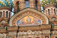 стена фрески церков Стоковое Изображение
