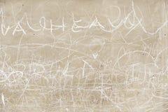 Стена цемента при написанные письма Стоковое фото RF