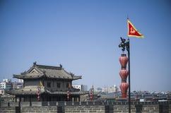 Стена центра города, XI, Китай Стоковая Фотография