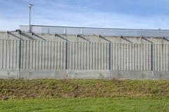 Стена центра Pieter Baan на Almere нидерландское 2018 Раскрывать после двигать от Utrecht к городу Almere Нидерланды стоковое фото rf