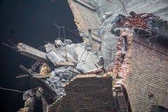 Стена церков, который подвергли действию во время подрывания Стоковая Фотография RF
