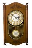 стена часов деревянная Стоковая Фотография RF