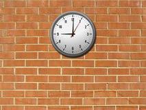 стена часов кирпича Стоковое Фото