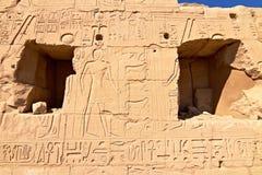 стена части karnak иероглифов Египета Стоковая Фотография RF