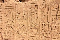 стена части karnak иероглифов Египета Стоковое Фото