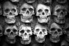 Стена черепов Стоковая Фотография
