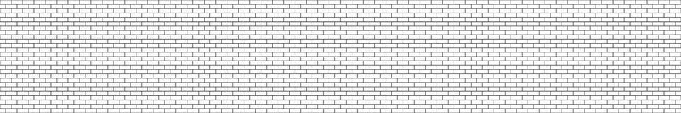 Стена черно-белого структурного кирпича панорамы безшовная Стоковые Фотографии RF