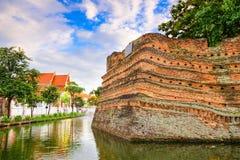 Стена Чиангмая старая стоковое изображение
