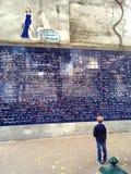 Стена я тебя люблю Парижа Стоковое Изображение RF