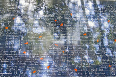 Стена & x22; Я люблю you& x22; в Париже Стоковая Фотография RF