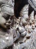 Стена Apsara каменная Стоковое Изображение