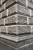 Стена Ashlar сделанная серого камня стоковые фотографии rf