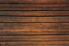 Стена Brown деревянная Стоковые Изображения RF