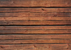 Стена Brown деревянная Стоковое фото RF