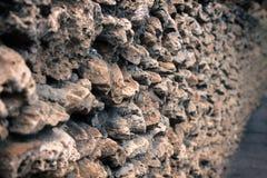 Стена Builded с большими утесами Стоковое фото RF