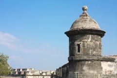 стена cartagena Колумбии колониальная de indias Стоковое Изображение RF