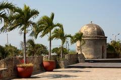 стена cartagena Колумбии колониальная de indias Стоковые Фотографии RF