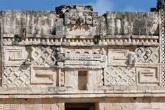 стена carvings uxmal стоковое фото rf