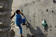 Стена cimbing Стоковая Фотография