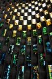 стена coventry собора запятнанная стеклом Стоковая Фотография