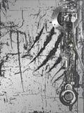 стена cyborg иллюстрация вектора