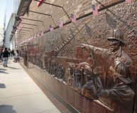 Стена Firemens мемориальная, эпицентр, WTC, NYC Стоковое Фото