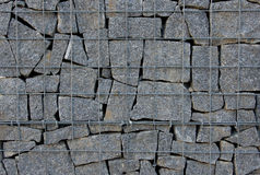 Стена Gabion Стоковые Фото