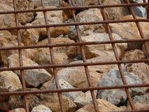 Стена Gabion Стоковые Фотографии RF
