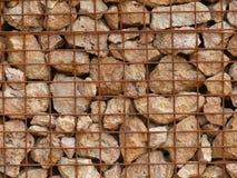 Стена Gabion Стоковая Фотография