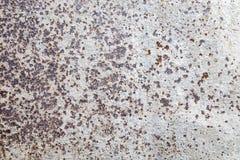 Стена grunge корозии размывания ржавая белая Стоковое фото RF