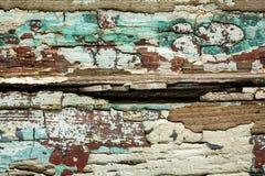 Стена Grunge с текстурой краски шелушения Стоковые Изображения RF