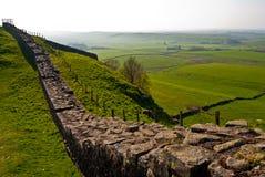Стена Hadrian стоковая фотография rf