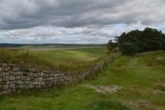 Стена Hadrians Стоковые Фотографии RF
