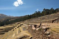 Стена Inca в деревне Chinchero, Перу Стоковое Изображение RF