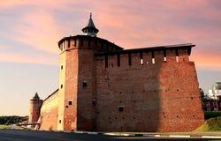 Стена Kolomna Кремля Стоковое Изображение