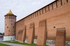 стена kremlin colomna Стоковое Изображение