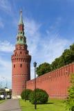 стена kremlin moscow Стоковое Фото