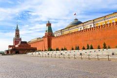 стена kremlin moscow Стоковое Изображение