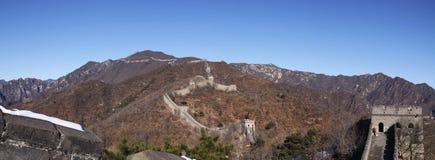 стена mutianyu фарфора Пекин большая Стоковое Изображение