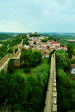 Стена Obidos стоковое изображение